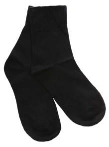 Black Ruffle Foldover Socks