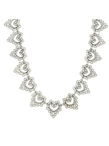 Vintage Style Silver Color Heart Charms Necklace