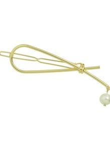 Gold New Metal Imitation Pearl Hair Clip