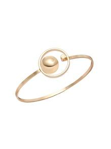 Gold Plated Minimalist Open Bangle