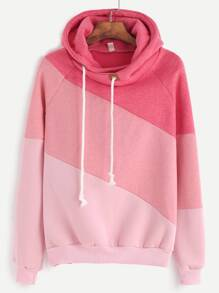 Color Block Cut And Sew Hoodie