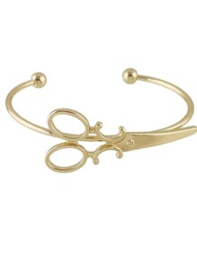 Gold New Cute Clippers Shape Cuff Bracelet