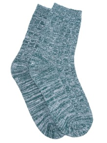 Dark Green Mottled Ankle Socks