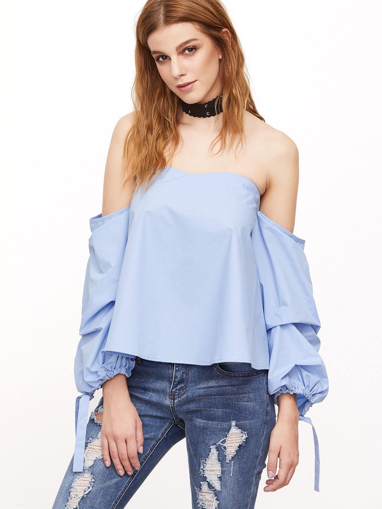 Блузка С Открытыми Рукавами