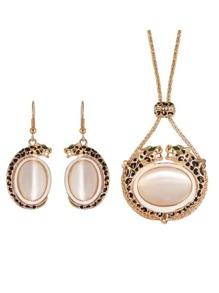 Costume Imitation Opal Wedding Jewelry Set For Women