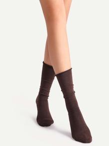 Brown Crew Socks
