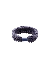 Grey Braided Elastic Hair Tie