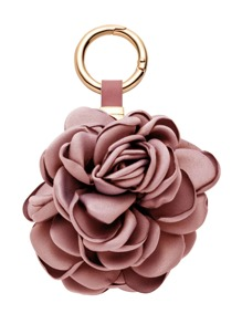 Dusty Pink Rose Keychain