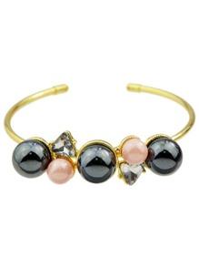 New Imitation Pearl Thin Cuff Bracelet