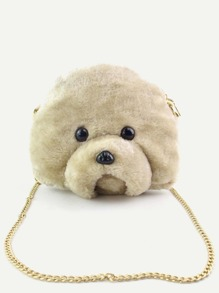 Bear Head Shaped Cartoon Chain Bag
