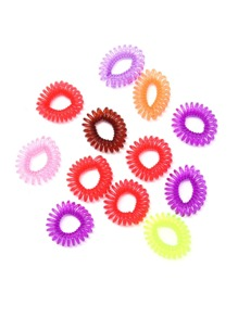 Random Color Telephone Cord Hair Tie Set