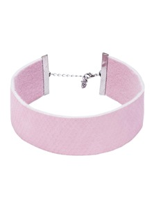 Pink Snake Skin Pattern Wide Choker Necklace