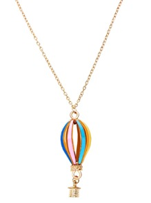 Multicolor Hot Air Balloon Hollow Out Pendant Necklace