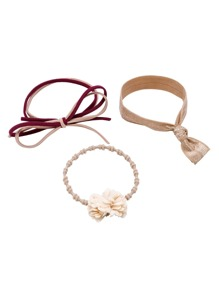Khaki Multi Shape High Stretch Hair Ties