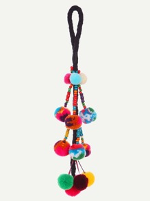 Multicolor Pom Pom Charm Beaded Accessories