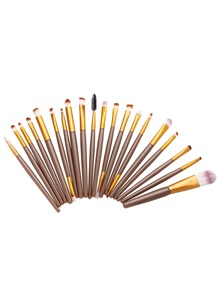 20PCS Brown Professional Cosmetic Makeup Brush Set