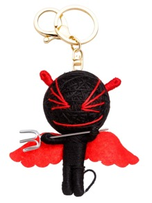 Red And Black Personalized Little Monster Keychain