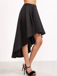 Black Box Pleated High Low Skirt