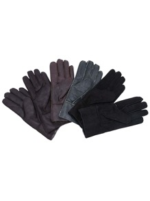 Random Color Fluffy Lining Leather Thermal Gloves