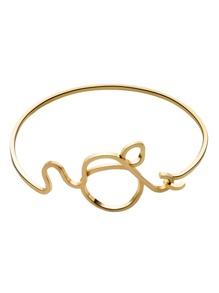 Gold Plated Cartoon Design Minimalist Bangle