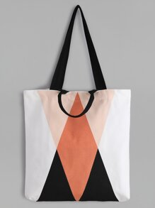 Geometric Pattern Minimalist Canvas Tote Bag