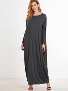 Heather Grey Maxi Cocoon Dress