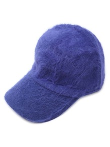 Blue Fluffy Thermal Casual Baseball Cap