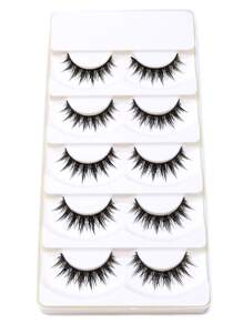Black Natural Long Thick False Eyelashes