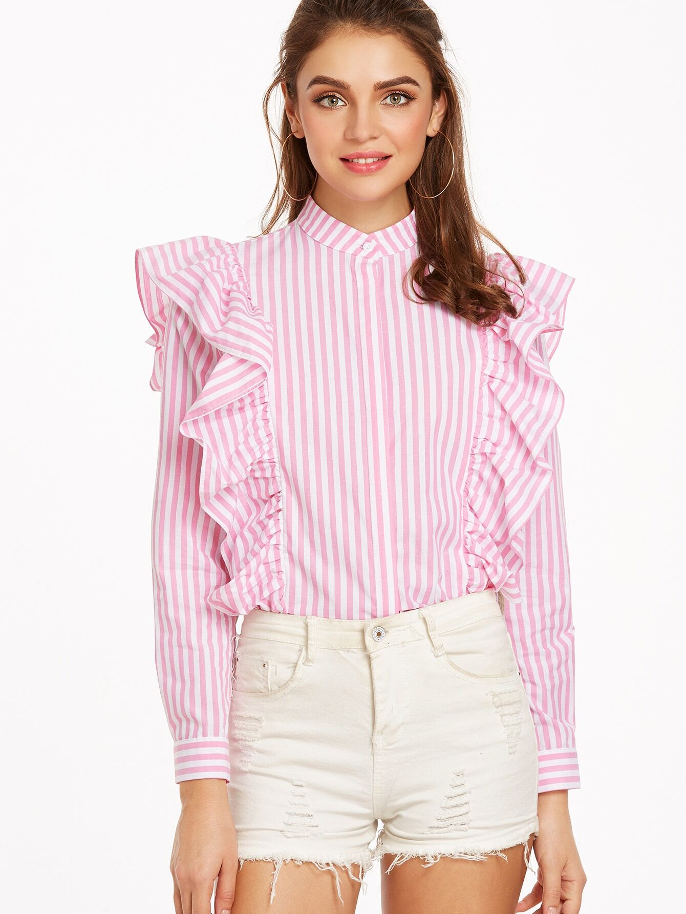 Ruffled Collar Blouses. invalid category id. Ruffled Collar Blouses. Showing 40 of 52 results that match your query. Search Product Result. Product - Plussize Very Lovely Ruffles Sleeves Round Neck Blouse Tops. Product Image. Price $ Product Title. Plussize Very Lovely Ruffles Sleeves Round Neck Blouse .