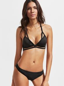 Black Cutout Detail Triangle Bralet