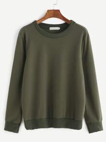 Army Green Long Sleeve Sweatshirt