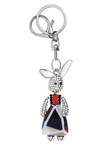 Mr Rabbit Crystal Inlay Pendant Keychain