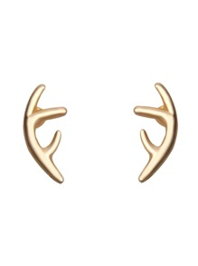 Gold Plated Antler Stud