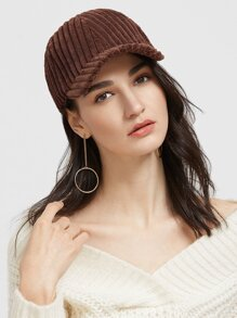 Coffee Thick Corduroy Baseball Cap