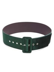 Green Velvet Covered Pin Buckle Belt