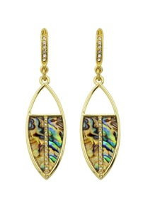 Gold Rhinestone Drop Earrings Women