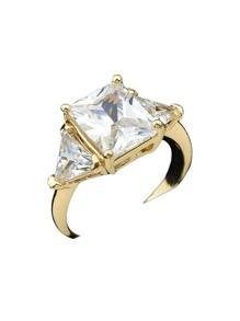 Gold Color Imitation Crystal Bridal Rings