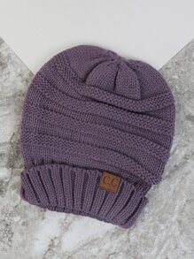 Thick Knit Winter Beanie LAVENDER