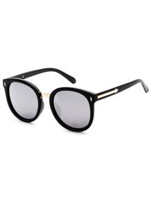 Black Frame Grey Lens Cat Eye Sunglasses