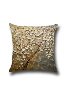 Relief Feeling Oil Plainting Modelling Square Pillowcase Cover