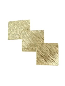 Gold Color Geometric Shape Hair Clips