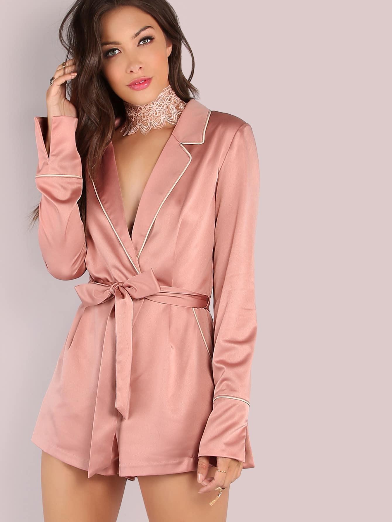 Satijnen silk satin blouse leather leren rok skirt - 3 6