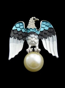 Eagle Imitation Blue Pearl Brooch