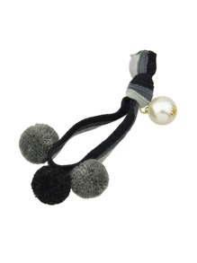 Black Color Pearl Elastic Hair Band