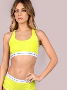 Neon Sports Bralette & Cheeky Shorts Set HIGHLIGHTER