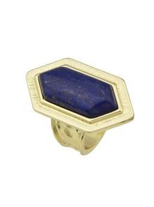 Gold Design Big Imitation Turquoise Band Rings