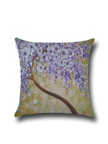 Oil Painting Pattern Simple Linen Pillowcase Cover