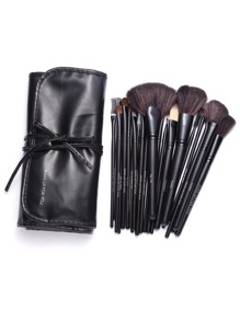 Black Professional 24PCS Makeup Brush Set With Bag