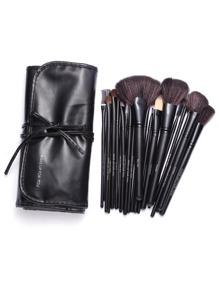 Black Professional 24PCS Makeup Brush Set With Bag