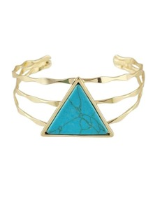 Blue Color  Wide Cuff Bangles Bracelets